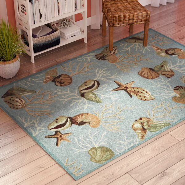 Chamberlin Blue Coral Reef Rug by Beachcrest Home