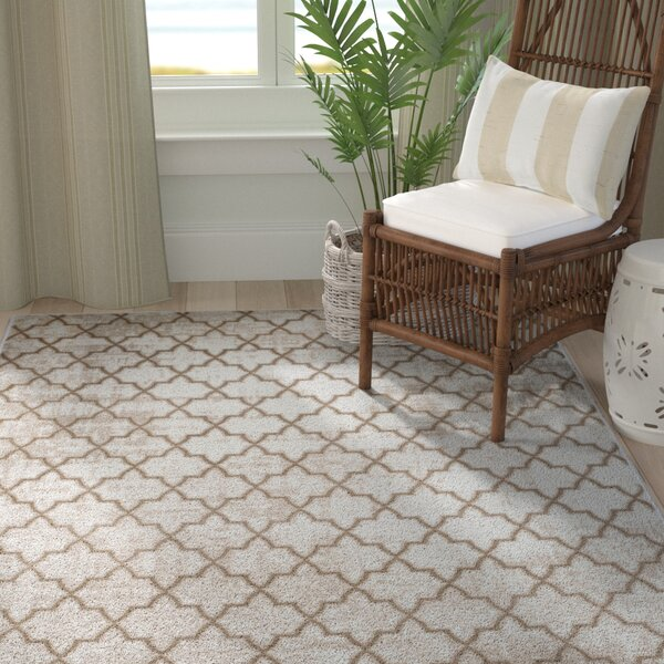 Brianne Bone/Ivory Area Rug by Breakwater Bay