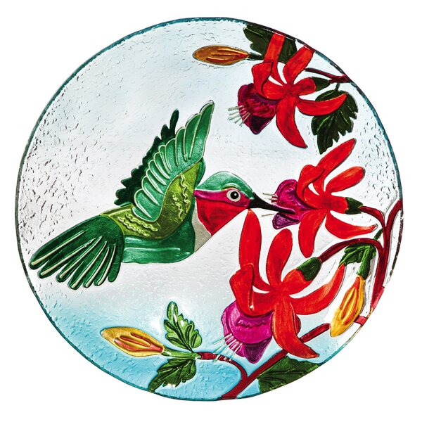 Elam Hummingbird Flutter Birdbath by Evergreen Enterprises, Inc