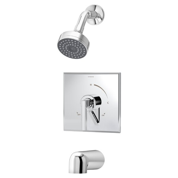 Duro Pressure Balance Tub and Shower Faucet Trim with Lever Handle by Symmons