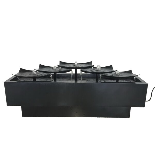 Metal Multi Level Plates Fountain by Hi-Line Gift Ltd.