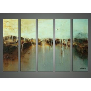 Morning Dew on the Lake 5 Piece Painting on Canvas Set