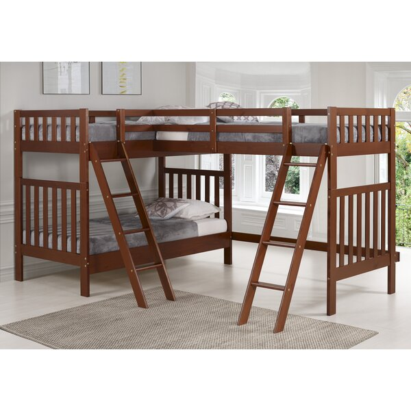 Reasor Twin L-Shaped Bunk Bed By Harriet Bee by Harriet Bee Discount