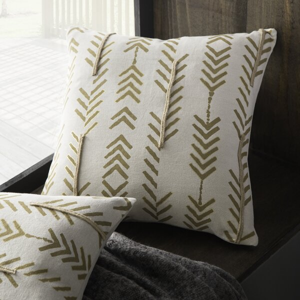 Asher Poly-Filled Cotton Throw Pillow by Eider & Ivory