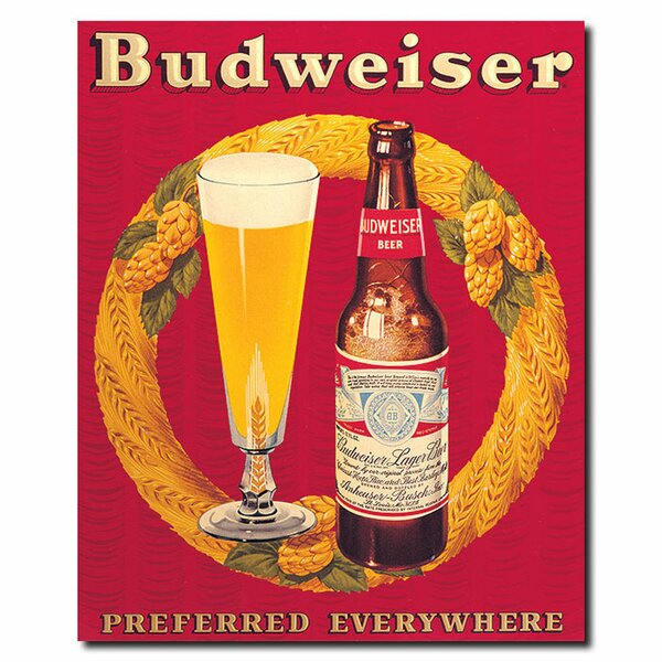Budweiser Preferred Everywhere Vintage Advertisement on Canvas by Trademark Fine Art