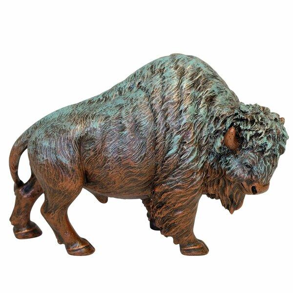 Baggett Bison Figurine by Millwood Pines