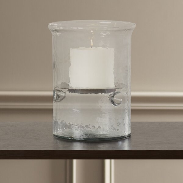 Harlakinden Cylinder Glass Hurricane by Alcott Hill