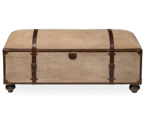 Leather Storage Bench by Sarreid Ltd