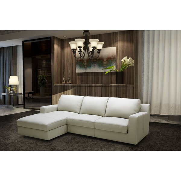 Leather Sleeper Sectional by J&M Furniture