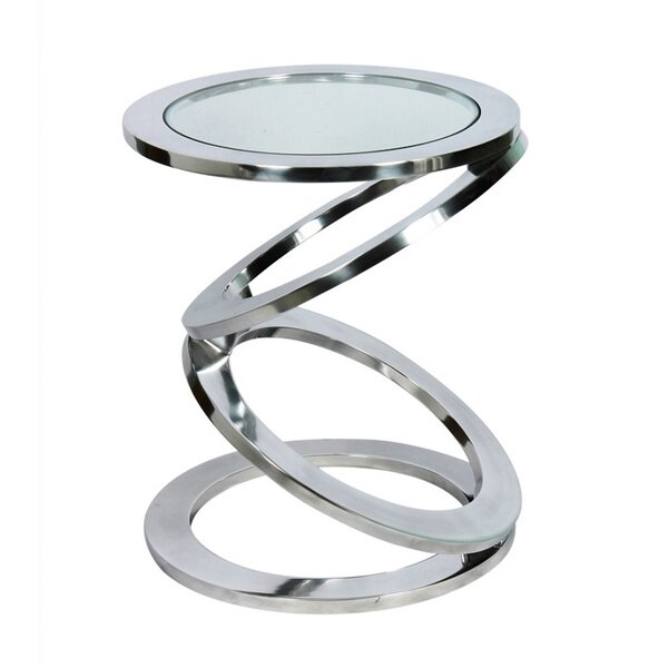 Disc End Table by Fashion N You by Horizon Interseas