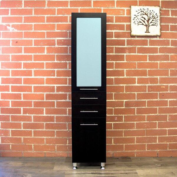 Mirabel Modern 15.7 W x 72.6 H Linen Tower by Latitude Run