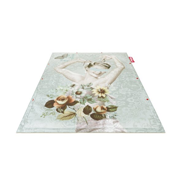 Vase Non-Flying Blue Indoor/Outdoor Novelty Rug by Fatboy
