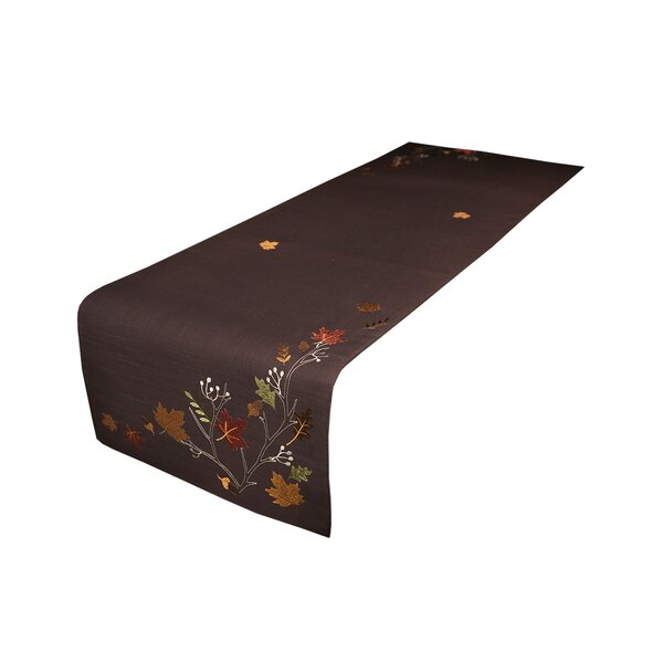 Dresden Branches Embroidered Fall Table Runner by Red Barrel Studio
