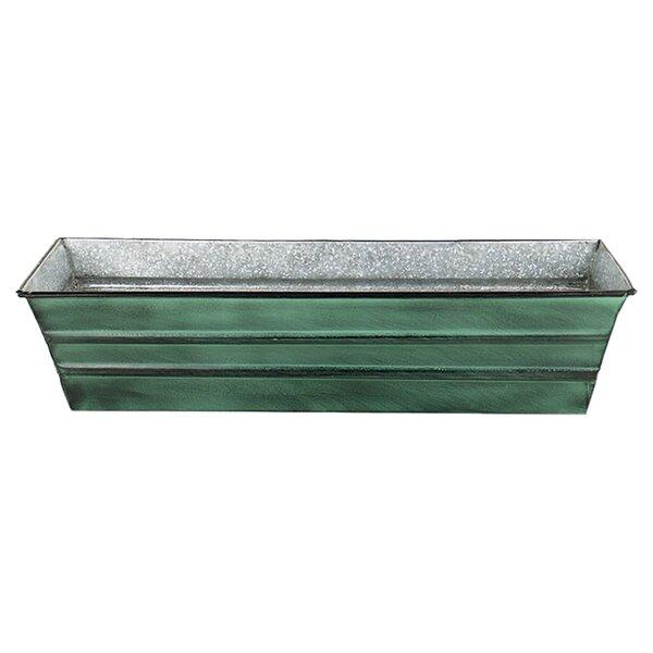 Galvanized Metal Window Box Planter by ACHLA