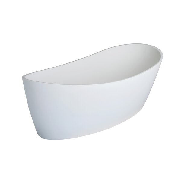 Dune 59 x 32 Freestanding Soaking Bathtub by Clarke Products