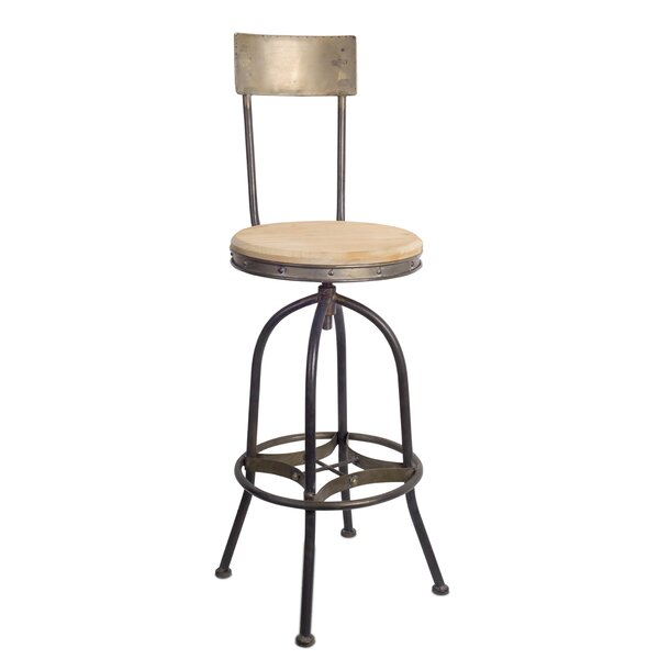 Harless Adjustable Height Bar Stool by Williston Forge Williston Forge