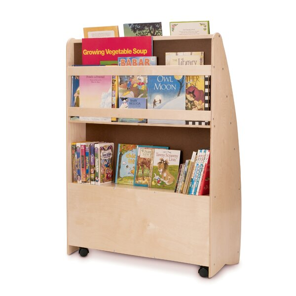NewWave Double Sided Book Display with Casters by Whitney Brothers