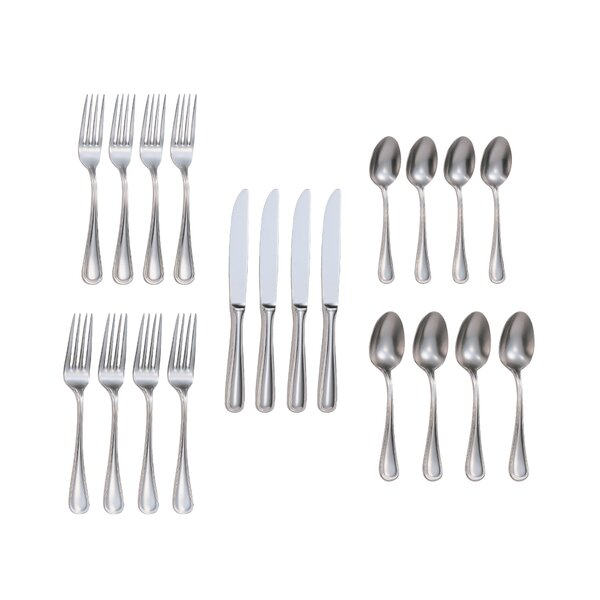Rybicki 20-Piece 18/10 Stainless Steel Flatware Set by Charlton Home