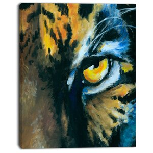 'Ferocious Eye of Tiger' Painting Print on Wrapped Canvas by Design Art