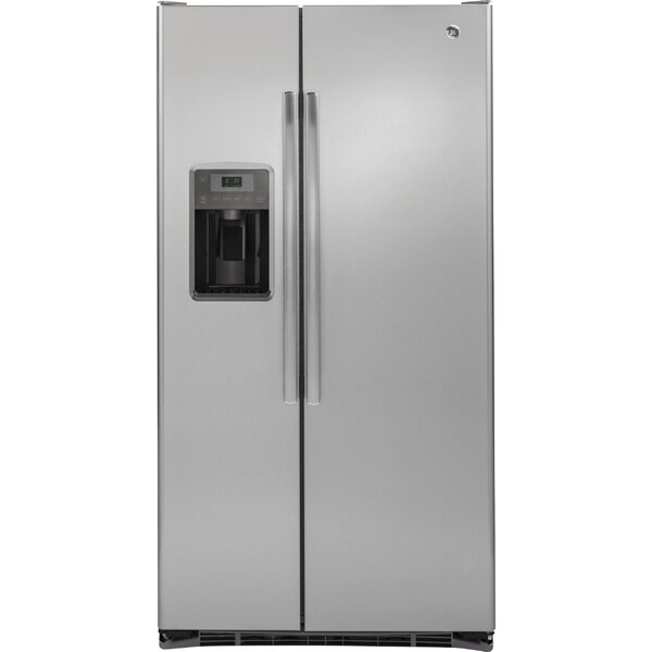 21.9 cu. ft. Counter-Depth Side-by-Side Refrigerator by GE Appliances