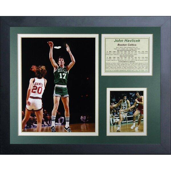 John Havlicek Framed Memorabilia by Legends Never Die