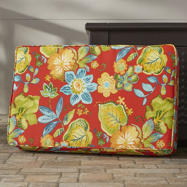 Hiawatha Beach Corded Floral Indoor/Outdoor Floor Pillow by Bay Isle Home