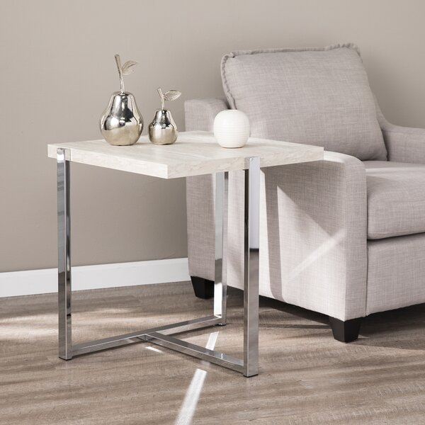 Merideth End Table By Orren Ellis New