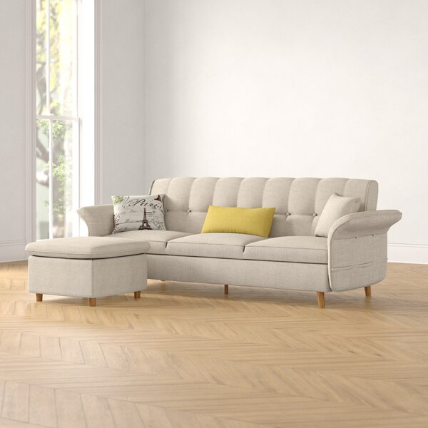 Rose 78-inch Sleeper Sectional With Ottoman by Foundstone Foundstone