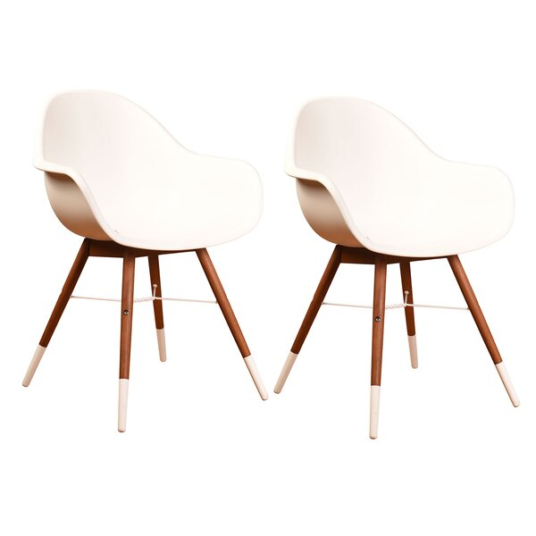Jimmy Teak Patio Dining Chair (Set of 2) by George Oliver