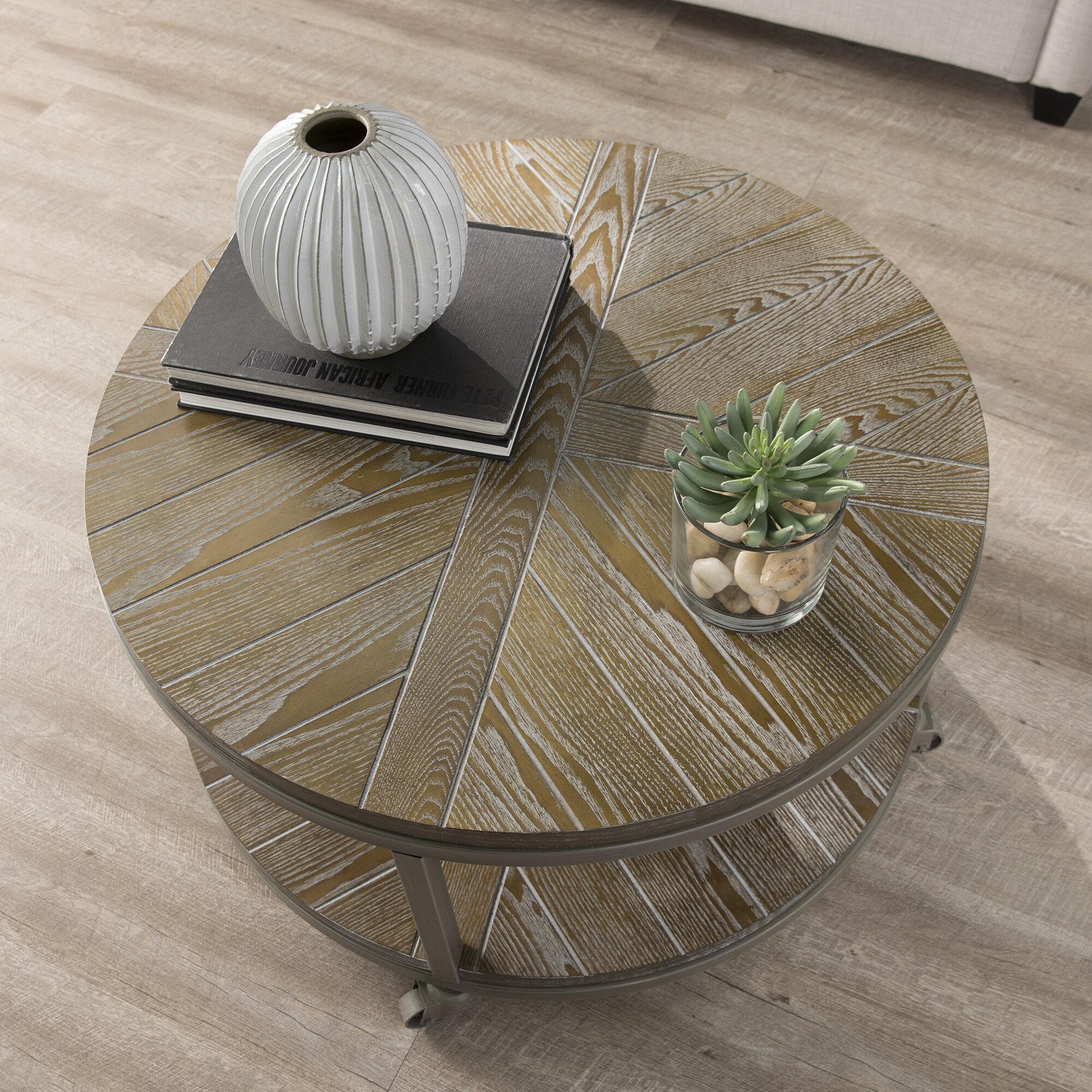Gibsland Wheel Coffee Table With