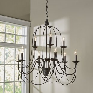 French country chandeliers youll love wayfair kollman 9 light candle style chandelier mozeypictures Images