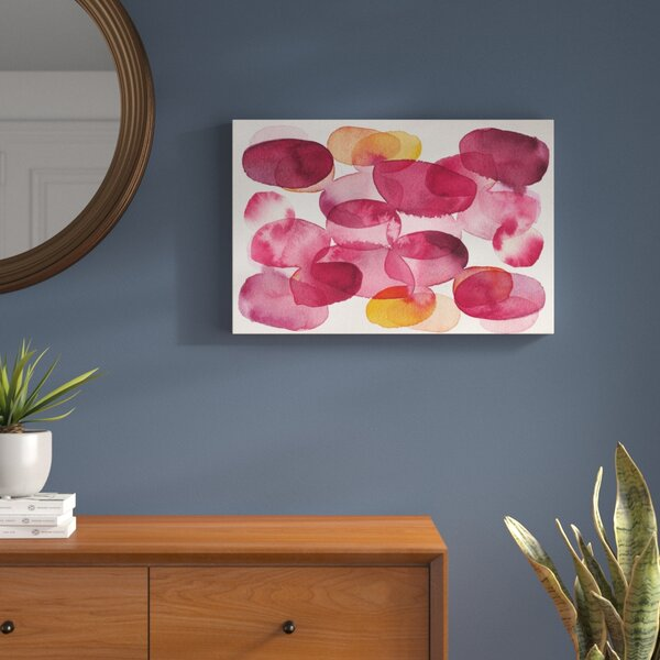 Raspberry Bubbles Painting Print on Wrapped Canvas by Langley Street