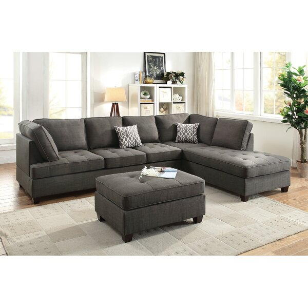 Lukasik Reversible Sectional with Ottoman by Ivy Bronx