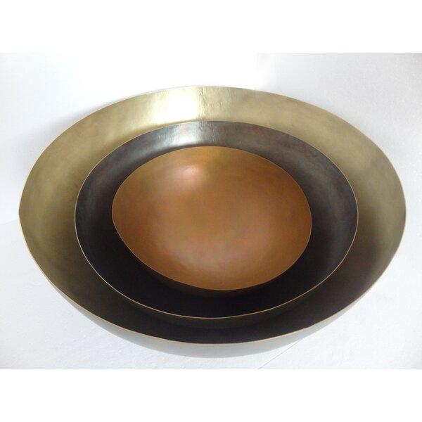 Hammered Patinas 3 Piece Mixing Bowl Set by BIDKhome