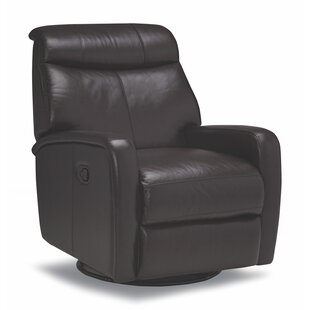 Mcmath Leather Manual Swivel Recliner Red Barrel Studio