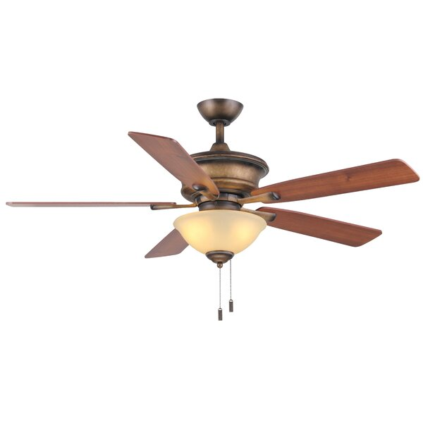 52 Pinckneyville 5-Blade Ceiling Fan by Charlton Home