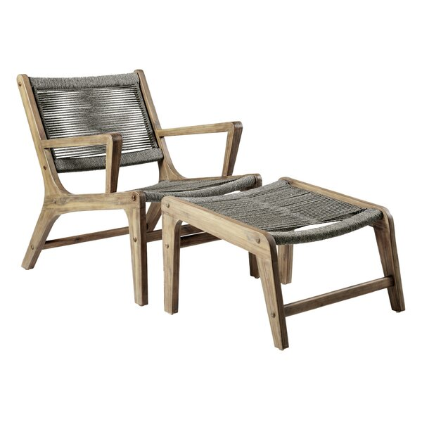 Explorer Oceans Patio Chair and Ottoman by Seasonal Living
