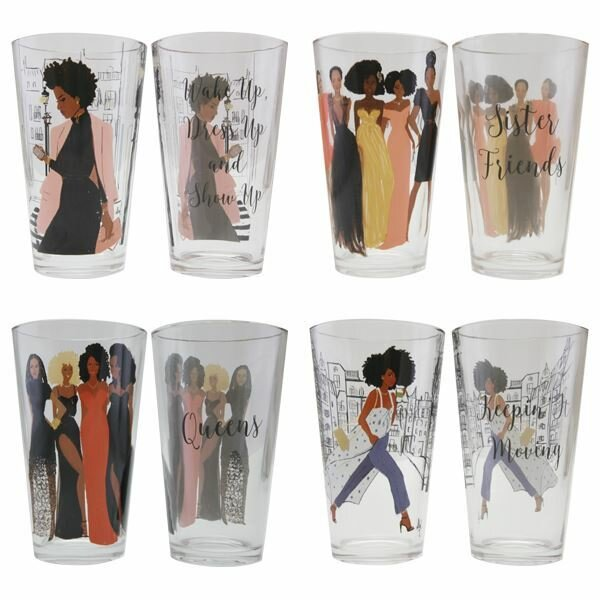 Siloam Sister Friends 17 oz. Glass Every Day Glasses by Winston Porter