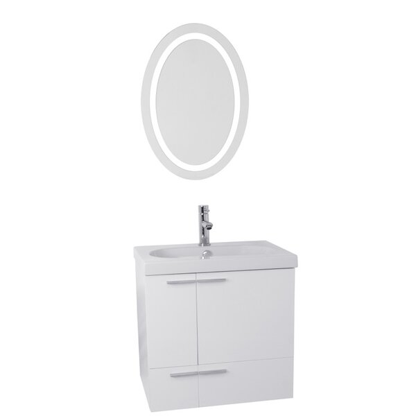 New Space 23 Single Bathroom Vanity Set with Mirror by Nameeks Vanities