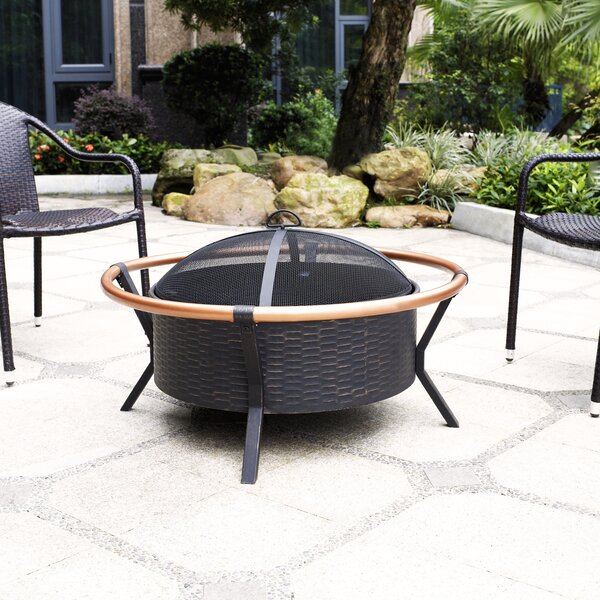 Yuma Ring Steel Wood Burning Fire Pit by Crosley