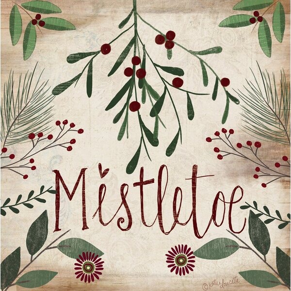 Siebert Vintage Mistletoe Paper Cocktail Napkin (Set of 20) by Three Posts