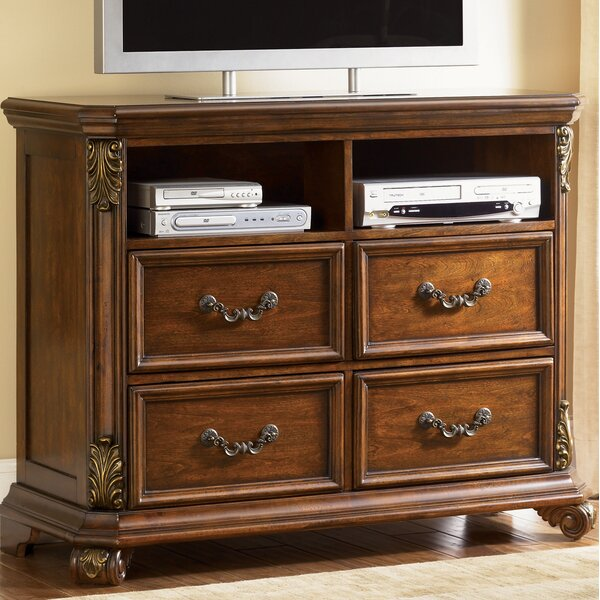 Sales Cavas 4 Drawer Media Chest