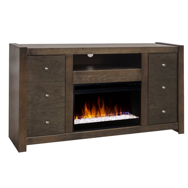 Pathan 62 TV Stand Electric Fireplace by Loon Peak