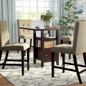 Leiters 5 Piece Counter Height Dining Set by Three Posts