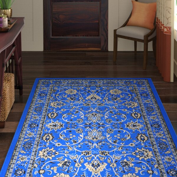 Essehoul Bright Blue Area Rug by World Menagerie