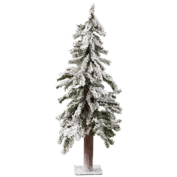 60 White Artificial Christmas Tree with Metal Plate Stand by The Holiday Aisle
