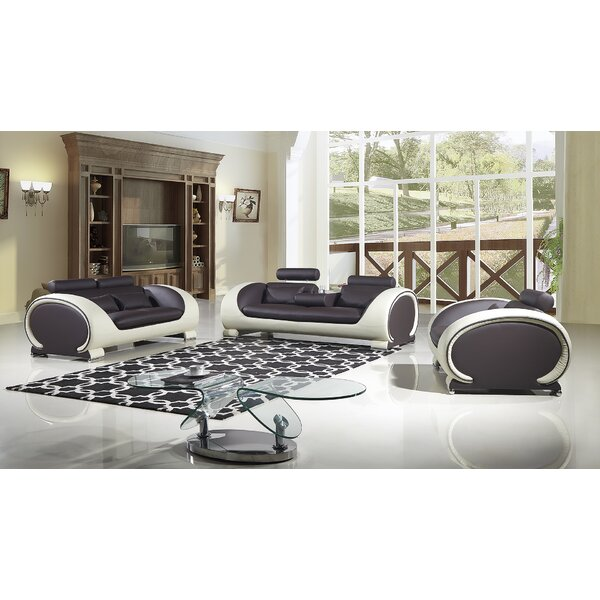 Shryock 2 Tone 3 Piece Living Room Set by Brayden Studio