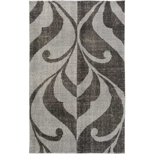 Paradox Hand-Knotted Black/Gray Area Rug by Candice Olson Rugs