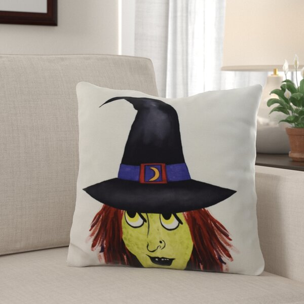 Maser Peek A Boo Witch Halloween Throw Pillow by The Holiday Aisle