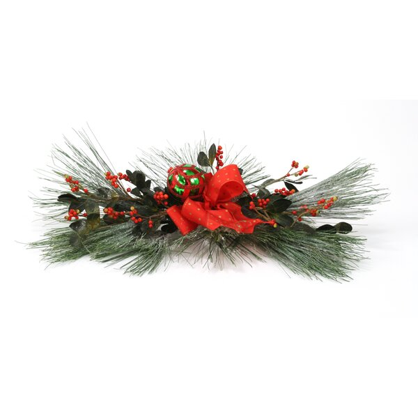 Silk Snow Pine Centerpiece (Set of 2) by Distinctive Designs